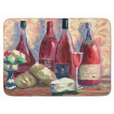 Wine and Cheese by David Smith Memory Foam Bath Rug