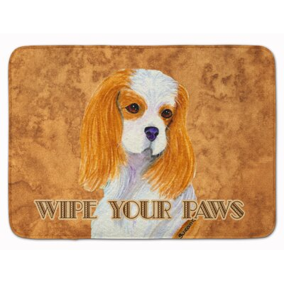 Blenheim Cavalier Spaniel Wipe your Paw Memory Foam Bath Rug