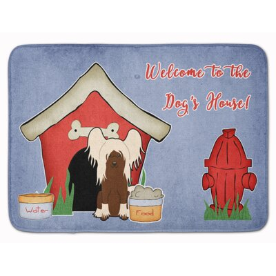 Dog House Chinese Crested Memory Foam Bath Rug Color: Cream