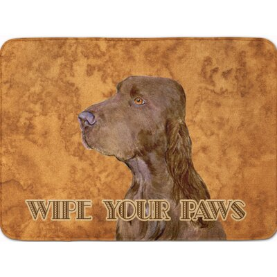 Field Spaniel Wipe your Paws Memory Foam Bath Rug