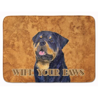 Rottweiler Wipe your Paws Memory Foam Bath Rug
