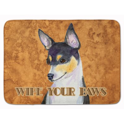 Toy Fox Terrier Wipe your Paws Memory Foam Bath Rug