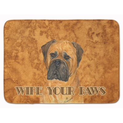 Bullmastiff Wipe your Paws Memory Foam Bath Rug