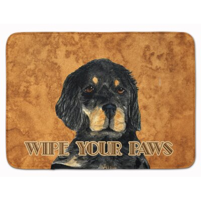 Gordon Setter Wipe your Paws Memory Foam Bath Rug