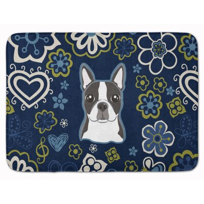 Boston Terrier Memory Foam Bath Rug
