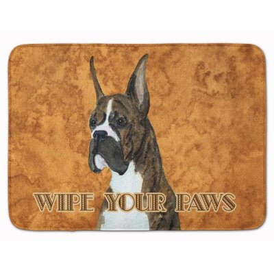 Brindle Boxer Wipe your Paws Memory Foam Bath Rug