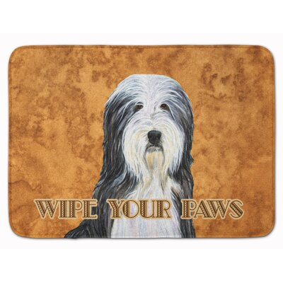 Bearded Collie Wipe your Paws Memory Foam Bath Rug