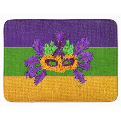 Mardi Gras Neutral Memory Foam Bath Rug