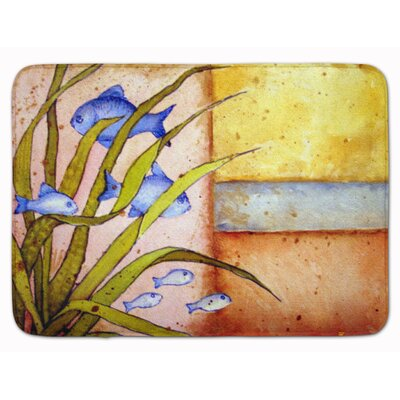 Message From The Sea Fishes Memory Foam Bath Rug