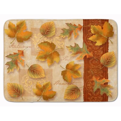 Fall Autumn Leaves Memory Foam Bath Rug