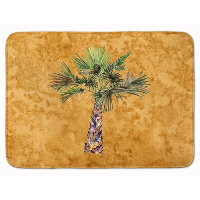 Bellamira Palm Tree Memory Foam Bath Rug Color: Gold