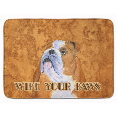 Bulldog English Wipe your Paws Memory Foam Bath Rug