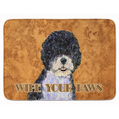 Portuguese Water Dog Wipe your Paws Memory Foam Bath Rug