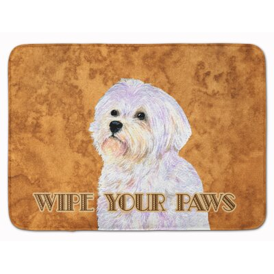 Puppy Cut Maltese Wipe your Paws Memory Foam Bath Rug