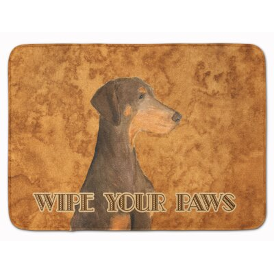 Chocolate Natural Ear Doberman Memory Foam Bath Rug