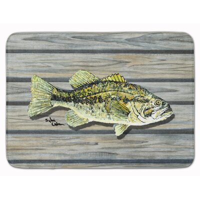 Fish Bass Small Mouth Memory Foam Bath Rug