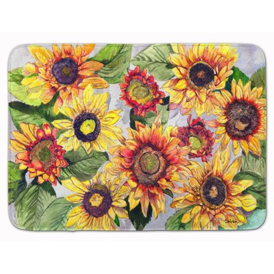 Lexi Sunflowers Rectangle Memory Foam Bath Rug