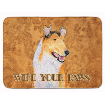 Collie Smooth Wipe your Paws Memory Foam Bath Rug