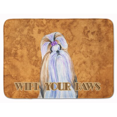 Shih Tzu Wipe your Paws Memory Foam Bath Rug