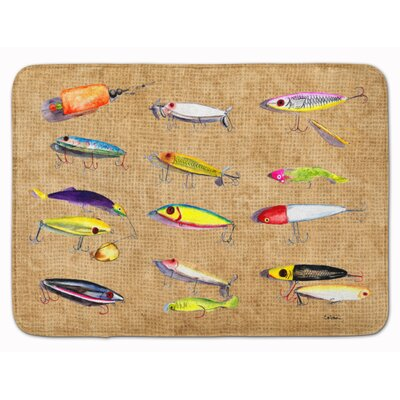 Fishing Lures Memory Foam Bath Rug