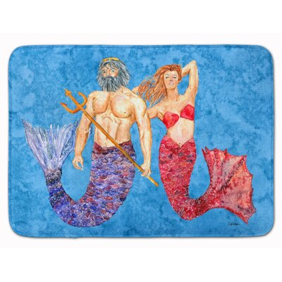 Mermaid and Merman Memory Foam Bath Rug