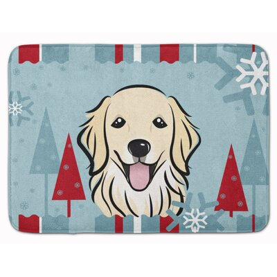 Winter Holiday Retriever Memory Foam Bath Rug