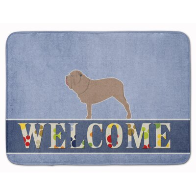 Neapolitan Mastiff Welcome Memory Foam Bath Rug