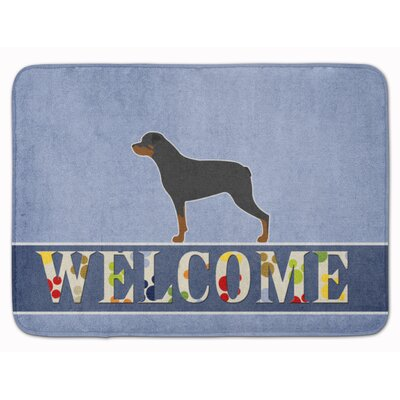 Rottweiler Welcome Memory Foam Bath Rug