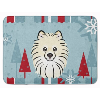 Winter Holiday Pomeranian Memory Foam Bath Rug