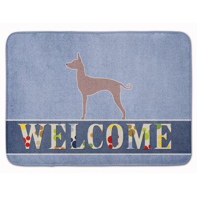 Dogo Argentino Welcome Memory Foam Bath Rug