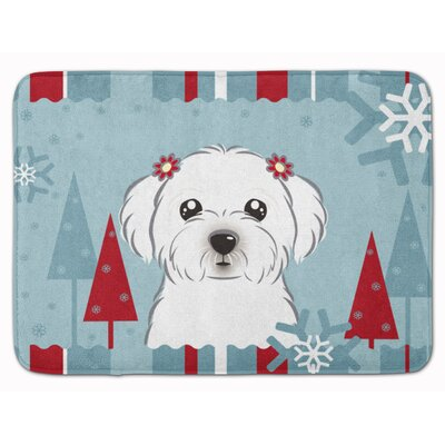 Winter Holiday Maltese Memory Foam Bath Rug