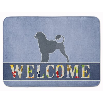 Portuguese Water Dog Welcome Memory Foam Bath Rug