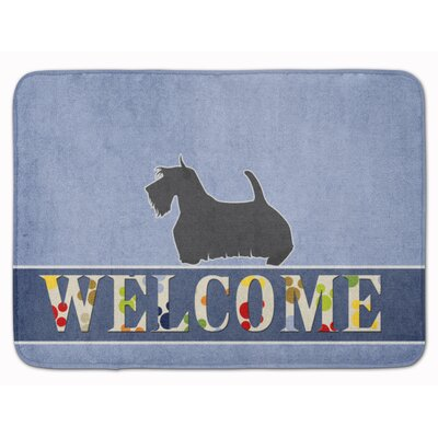 Scottish Terrier Welcome Memory Foam Bath Rug