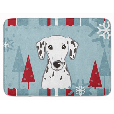 Winter Holiday Dalmatian Memory Foam Bath Rug