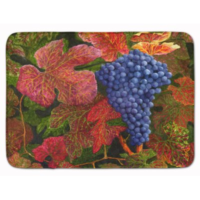 Grapes Of Joy by Malenda Trick Memory Foam Bath Rug
