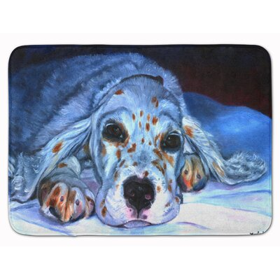 English Setter Pup Memory Foam Bath Rug