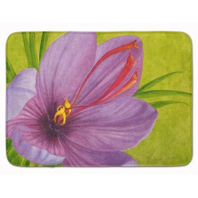 Floral by Malenda Trick Memory Foam Bath Rug