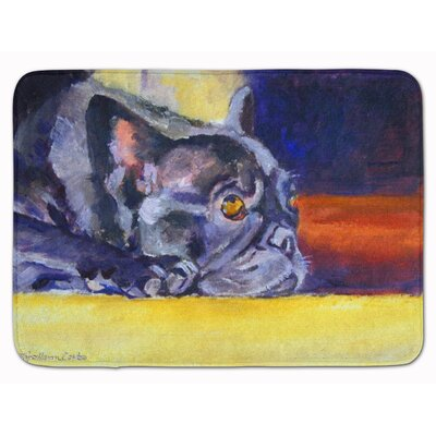 French Bulldog Sunny Memory Foam Bath Rug