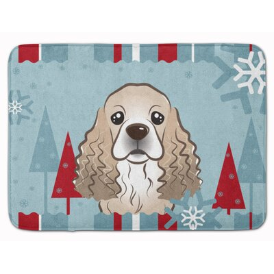 Winter Holiday Cocker Spaniel Memory Foam Bath Rug