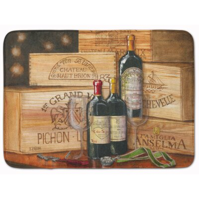 Wine Gran Vin by Malenda Trick Memory Foam Bath Rug