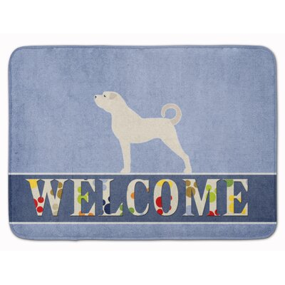Anatolian Shepherd Welcome Memory Foam Bath Rug