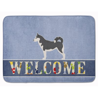 Siberian Husky Welcome Memory Foam Bath Rug