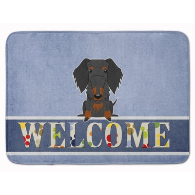 Wire Haired Dachshund Welcome Memory Foam Bath Rug
