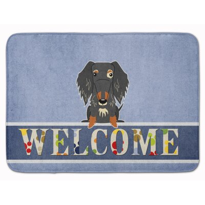 Wire Haired Dachshund Dapple Welcome Memory Foam Bath Rug