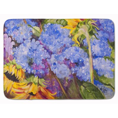 Hydrangea and Sunflowers Memory Foam Bath Rug