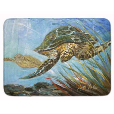 Eastover Loggerhead Sea Turtle Memory Foam Bath Rug