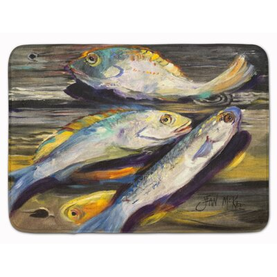 Fish on the Dock Memory Foam Bath Rug