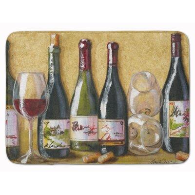 Wine Du Vin by Malenda Trick Memory Foam Bath Rug