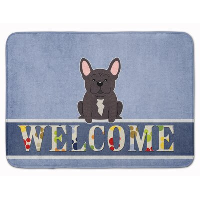 French Bulldog Brindle Welcome Memory Foam Bath Rug Color: Brindle