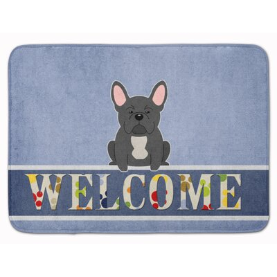French Bulldog Welcome Memory Foam Bath Rug Color: Black